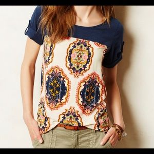 Anthropologie Meadow Rue Solvo Medallion Tunic XS